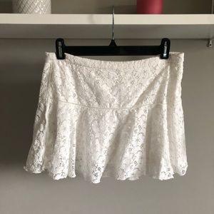Sunday Best white lace skirt